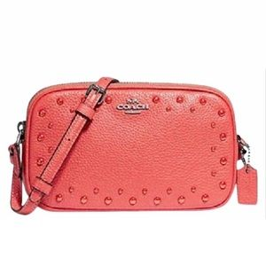 NWT Coach Dinky Pouch Leather Crossbody Bag